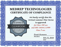 ISO 5 Class 100 Clean Room Data Recovery certificate