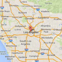 map of los angeles service area