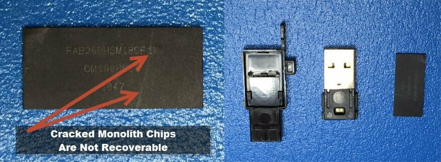 data recovery for flash drive that has cracked chip